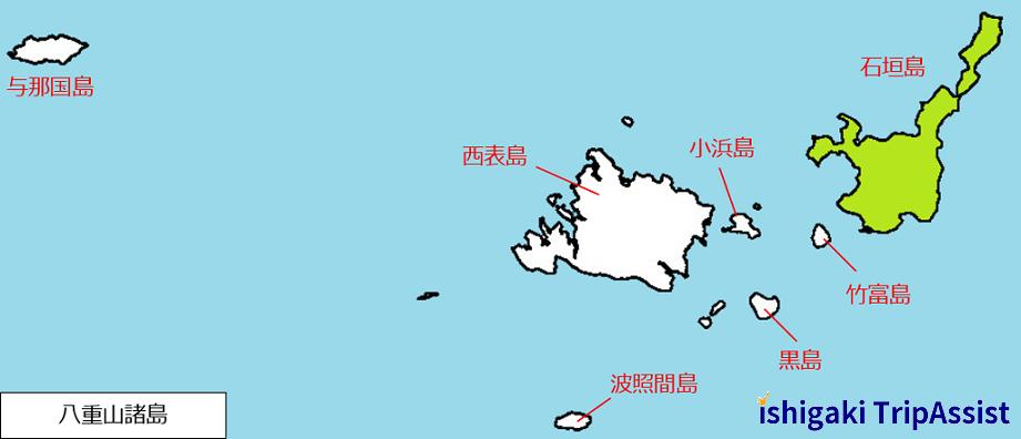 八重山諸島地図