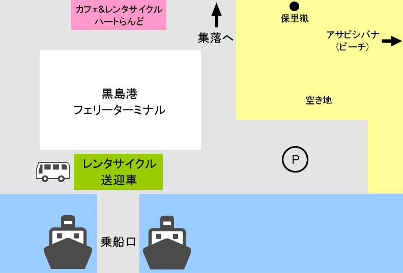 黒島港マップ